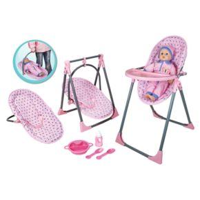 Lissi Dolls 4-in-1 Highchair Set