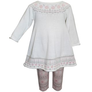 Baby Girl Blueberi Boulevard Fairisle Sweaterdress & Leggings Set