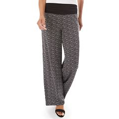 Women's Apt. 9® Printed Wide-Leg Pants