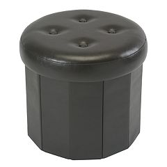 Simplify Round Collapsible Folding Storage Ottoman