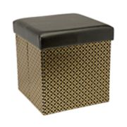 Simplify Metallic Collapsible Folding Storage Ottoman
