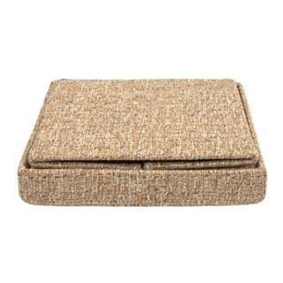 Simplify Linen Collapsible Folding Storage Ottoman