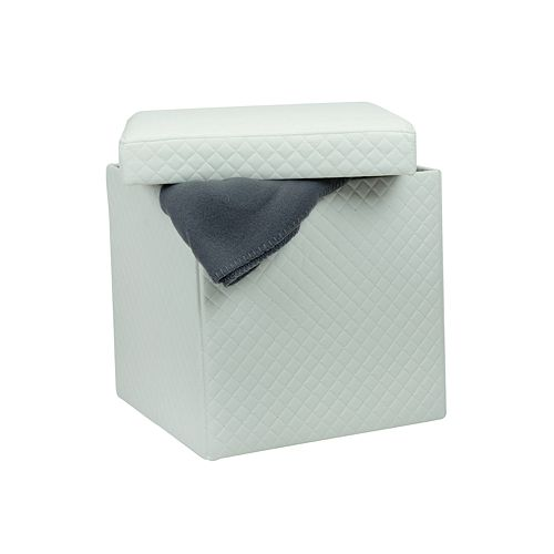 Simplify Quilted Collapsible Folding Storage Ottoman