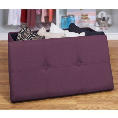 Simplify Large Solid Collapsible Storage Ottoman