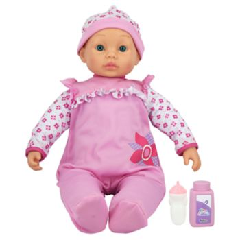 New Adventures Little Darlings Pink 19-in. Cuddle Baby Set