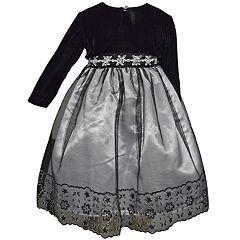 Toddler Girl Blueberi Boulevard Embellished Tulle Dress   Shrug Set e21593853