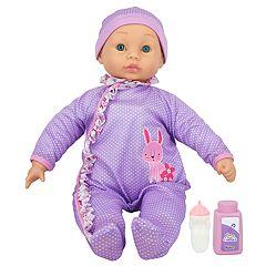 New Adventures Little Darlings Purple 19-in. Cuddle Baby Set