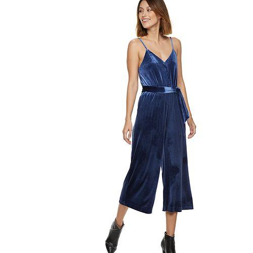 Women's POPSUGAR Velvet Wide-Leg Jumpsuit