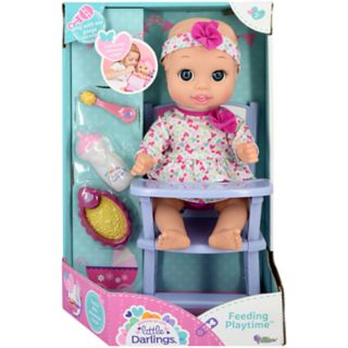 New Adventures Little Darlings 11-in. Baby Doll & Feeding Playtime Set