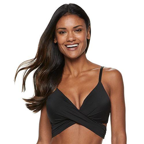 fd899d3e4a Women's Apt. 9® Bust Enhancer Faux-Wrap Bikini Top