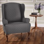 Jeffrey Home Stretch Sensations Stretch Newport Wing Chair Slipcover