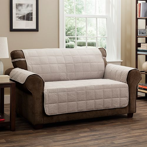 Jeffrey Home Tyler Solid Loveseat Furniture Cover Slipcover
