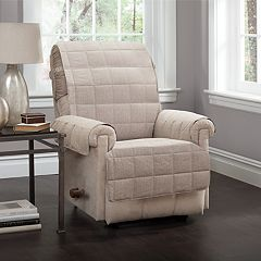 Jeffrey Home Tyler Solid Recliner Furniture Cover Slipcover