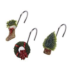 Avanti Farmhouse Holiday Shower Curtain Hooks