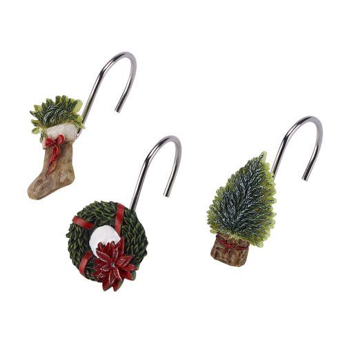Avanti Farmhouse Holiday Shower Curtain Hooks by Kohl's