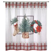Avanti Farmhouse Holiday Shower Curtain