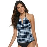 Women's Apt. 9® Tie-Dye High-Neck Tankini Top