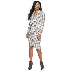 Women's Jennifer Lopez Plaid Midi Shirtdress