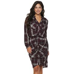 b92971536d40 Women s Jennifer Lopez Plaid Midi Shirtdress