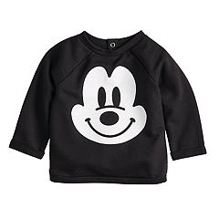 Disney's Mickey Mouse Baby Girl French Terry Rolled Cuff Top By Jumping Beans®