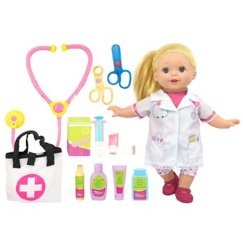 New Adventures Lil Tots 14-in. Doll Doctor Set