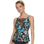 Women's Apt. 9® Tropical Strappy D-Cup Tankini Top