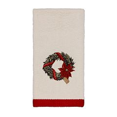 Avanti Farmhouse Holiday Fingertip Towel