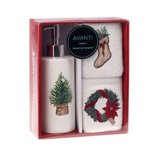 Avanti Farmhouse Holiday 3-piece Box Set
