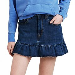 Women's Levi's Ruffle Hem Denim Skirt