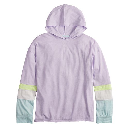 Girls 7-16 & Plus Size SO® Long Sleeve Hooded Top