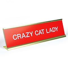 'Crazy Cat Lady' Desk Sign by Fred