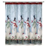 Avanti Tall Snowmen Shower Curtain