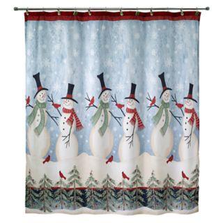 Avanti Tall Snowmen Shower Curtain