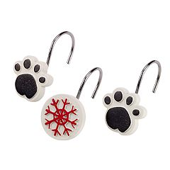 Avanti Happy Paw-lidays Shower Curtain Hooks