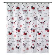 Avanti Happy Paw-lidays Shower Curtain