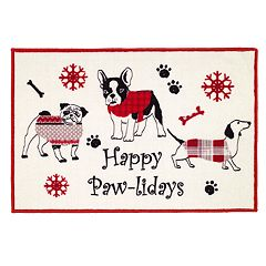 Avanti Happy Paw-lidays Bath Rug