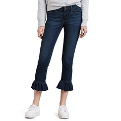 Women's Levi's 711 Styled Detail Ruffle Mid-Rise Crop Jeans