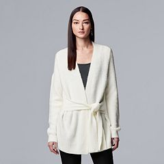 Women's Simply Vera Vera Wang Tie-Front Cardigan Sweater