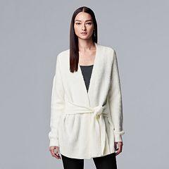 Women's Simply Vera Vera Wang Tie-Front Cardigan Sweater