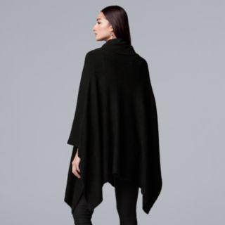 Women's Simply Vera Vera Wang Draped Turtleneck Poncho Sweater