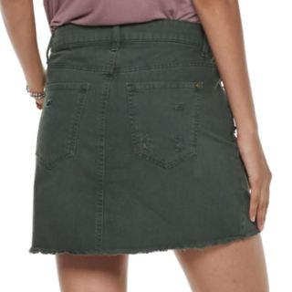 Juniors' Tinseltown Twill Skirt