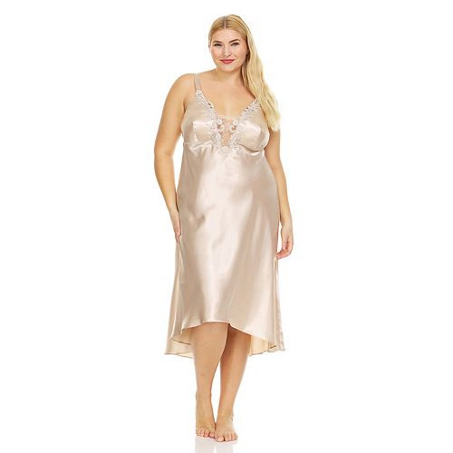 Plus Size Flora by Flora Nikrooz Stella Charmeuse Satin Gown