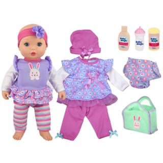 New Adventures Baby Magic 16-in. Doll Dress N Play Set