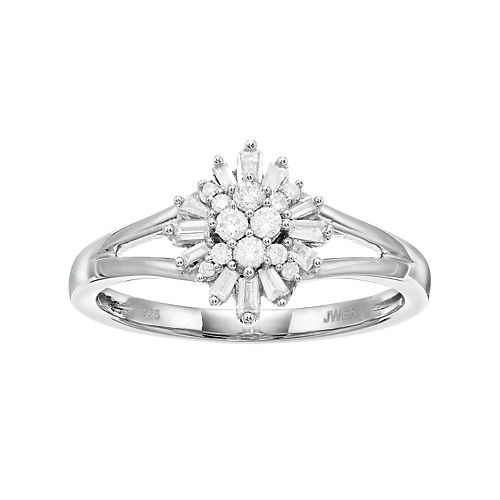 Simply Vera Vera Wang Sterling Silver 1/4 Carat T.W. Diamond Ring