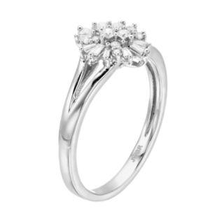 Simply Vera Vera Wang Sterling Silver 1/4 Carat T.W. Diamond Ring