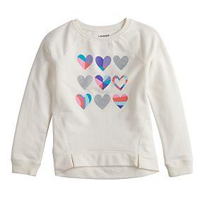 Girls 4-12 Jumping Beans® Glittery French Terry Sweatshirt