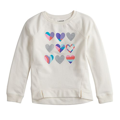 Girls 4-12 Jumping Beans® Glittery French Terry Sweatshirt