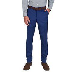 Men's Billy London Slim-Fit Stretch Flat-Front Suit Pants