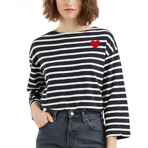 Women's Levi's® Heart Striped Tee