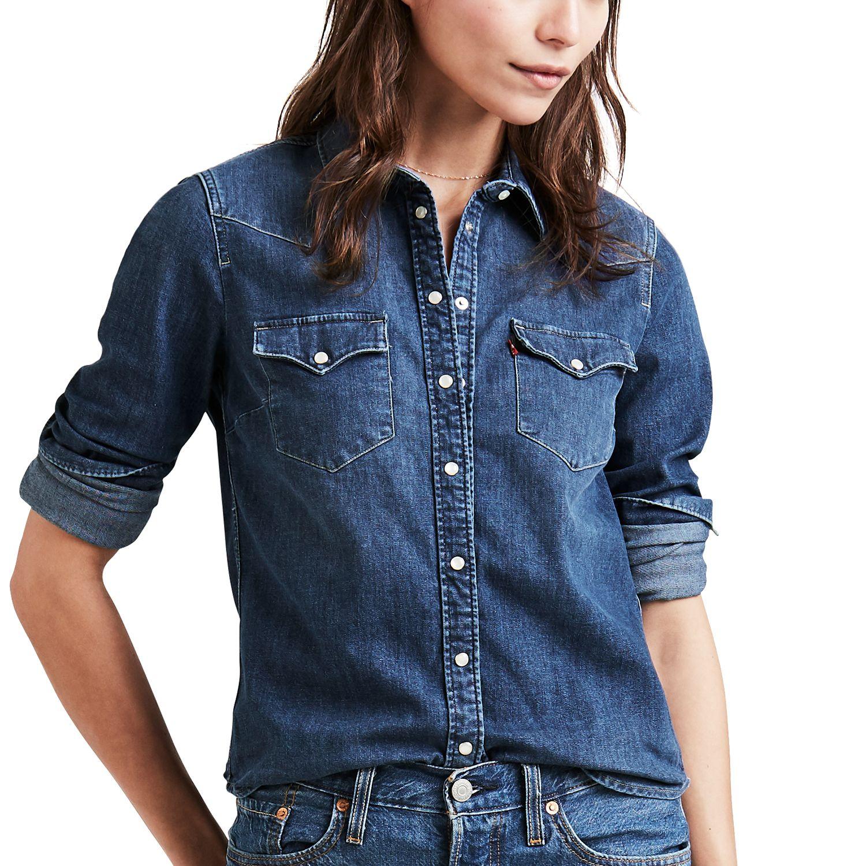 levi jean shirt womens
